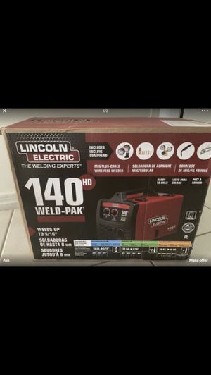 Lincoln Electric 140 Amp Weld Pak 140 HD MIG Wire Feed Welder with Magnum 100L Gun, Sample spools of MIG Wire and Flux Wire, 115V for Sale in Pembroke Pines, FL
