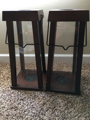 Wooden & Glass Lantern Candle Holders for Sale in Reynoldsburg, OH