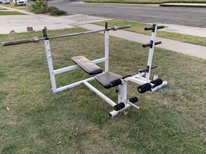 Bench bar and weight stand $100 for Sale in Anaheim, CA