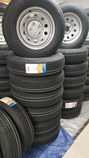 NEW TRAILER TIRES AND WHEELS STARTING AT $60+ TAX AND UP TIRE/RIM ASSEMBLY SEE BELOW for Sale in Douglasville, GA