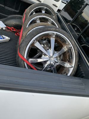 5 lug universal rims a tires 180 for Sale in Wenatchee, WA