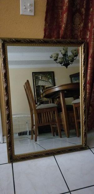 Wine & Gold Wall mirror/Espejo for Sale in Cutler Bay, FL
