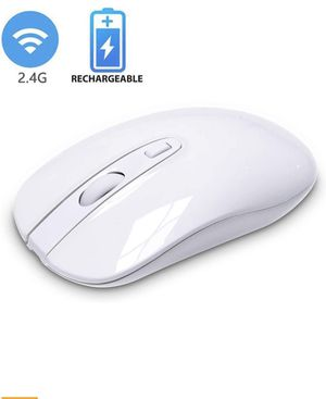 Rechargeable Wireless Mouse for Laptop, Cimetech 2.4G Computer Mouse Cordless Optical Mice, Slim Quiet Wireless Mouse with USB Nano Receiver for Sale in Westerville, OH
