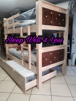 NEW💥TWIN/TWIN/TWIN BUNK BEDS💥MATTRESS'S INCLUDED💥IN STOCK💥💥 for Sale in Bellflower, CA