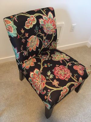Floral upholstered slipper chair for Sale in Redmond, WA