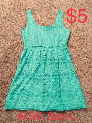 AUW, Aqua Blue Lace Dress, Size L for Sale in Phoenix, AZ