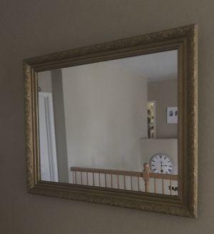 Mirror, gold, home decor, living room for Sale in Murrieta, CA