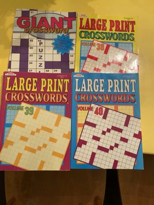 NEW CROSSWORDS for Sale in West Hartford, CT