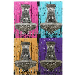 Pop Art Chandeliers Glitter Canvas Wall Art for Sale in Boston, MA
