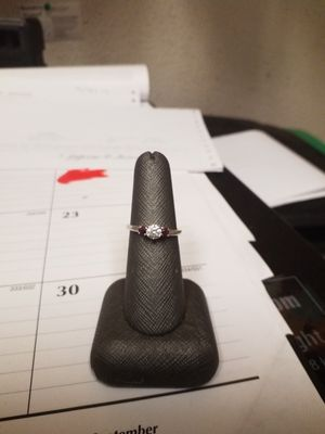 .925 Sterling Silver Diamond Ring Sz 7 for Sale in Denver, CO