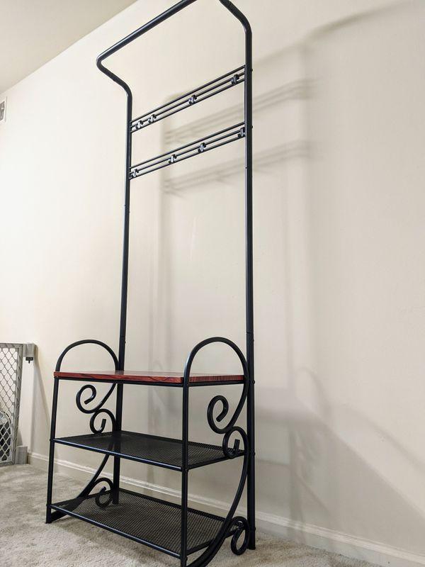 Shoe rack/ coat rack/ bench/ entryway organizer