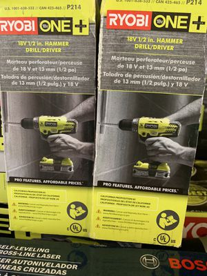 Brand new ryobi 18v 1/2 hammer drill tool only 45 each for Sale in Plant City, FL