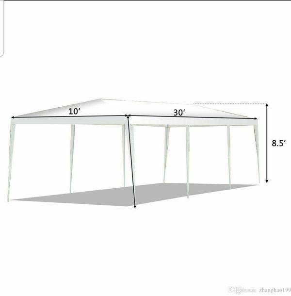 PE Wedding Tent - 10'x30' - WDMT1030 (w Metal Connectors)
