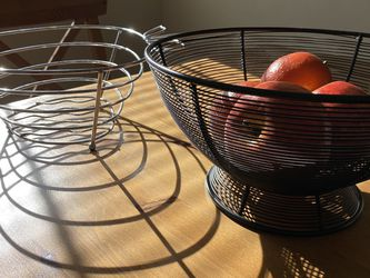 2 Fruit Bowls With Faux Apples for Sale in Rockville,  MD