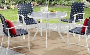 New!! Outdoor Dinning chair, set of 4, patio furniture , white for Sale in Phoenix, AZ