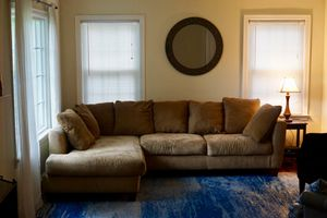 Tan Microfiber Sectional for Sale in Charlotte, NC