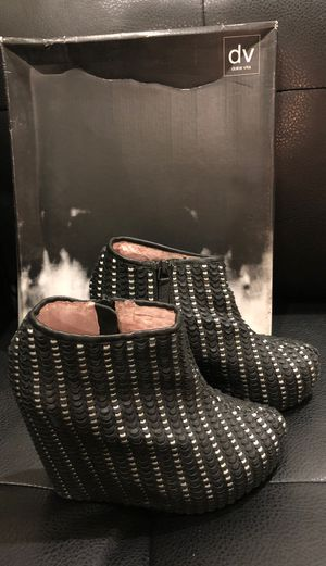 Dolce Vita black&white leather wedge booties for Sale in Montebello, CA