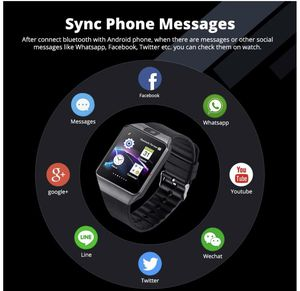 Smart Watch DZ09 Touchscreen Bluetooth Smartwatch Phone Sports Fitness Tracker with SIM SD Card Slot Camera Pedometer Compatible iPhone iOS Samsung L for Sale in South Brunswick Township, NJ
