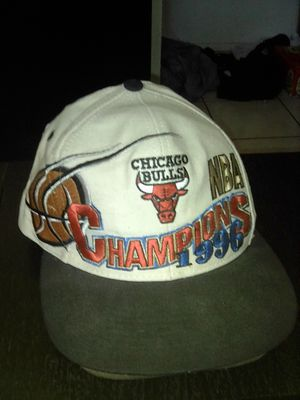 1996 Chicago Bulls Championship game hat for Sale in Montebello, CA