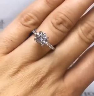 Beautiful 925 sterling silver with 1 & 3/4 car. Of real diamonds for Sale in Brooklyn, NY