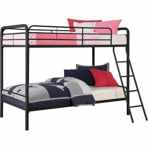 Black bunk bed with mattresses for Sale in Arvada, CO