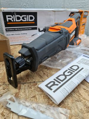 Ridgid 18-Volt OCTANE Lithium-Ion Cordless Brushless Reciprocating Saw (Tool-Only) with Reciprocating Saw Blade for Sale in Snohomish, WA