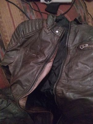 Leather jacket mens brown motorcycle new for Sale in Grand Junction, CO