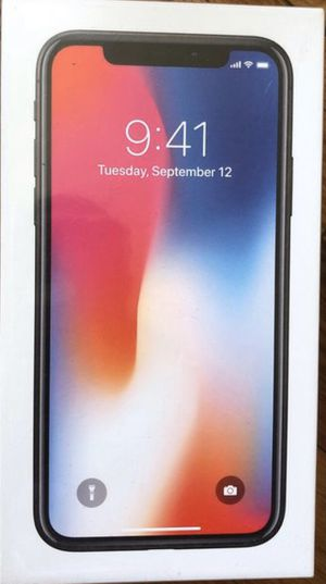 IPhone X factory unlocked 256GB for Sale in Morrisville, PA