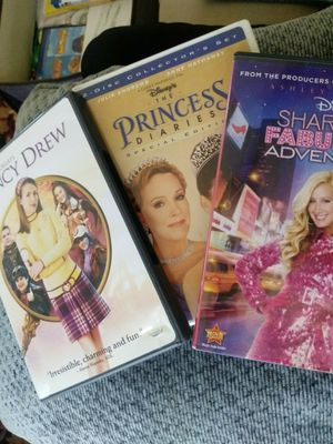 4 DVDs Warner's Nancy Drew is PG Disneys Princess Diaries 2 discs collector's set with bonus features, Disneys Sharpay's fabulous adventure for Sale in Tucson, AZ