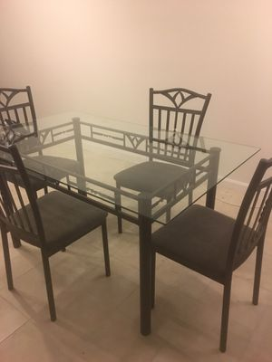 Used Glass Dining Table and Chairs for Sale in Alexandria, VA