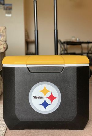 Coleman NFL Pittsburgh Steelers 60 quarts wheeled cooler for Sale in ARSENAL, PA