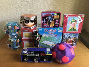 ANY 4 TOYS FOR $20. U PICK. ALL BRAND NEW. CERAMIC MUG. GAMES PUZZLES. SOFT SOCCER BALL. STAR WARS LIGHTSABER TOOTHBRUSH. DORY PEZ. TRUCK. ETC for Sale in Los Angeles, CA
