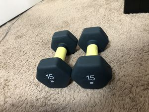 15lb Dumbbell Set (Pair) for Sale in Baltimore, MD