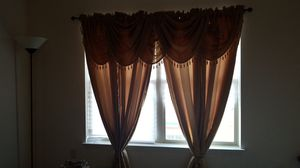 4 gold panels from bed bath and beyond and 5 valances from walmart for Sale in Harrisonburg, VA
