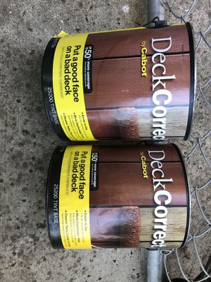 6 gallons of Deck Correct Cedar stain never opened for Sale in Arroyo Grande, CA