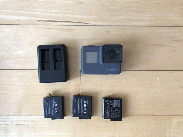 GoPro Hero 5 Black 4K Camera with Extra batteries, straps