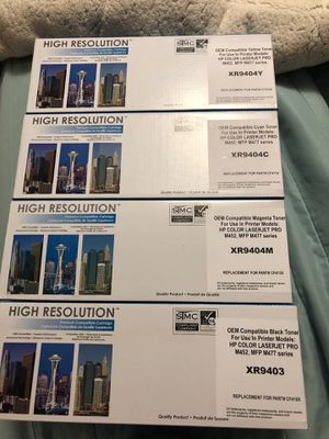 Laser jet toner Hp XR9404M , C, YB there are 4 different boxes toner for Sale in Sterling, KS