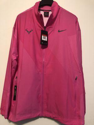 Nike Court Rafa Full Zip Jacket Men's Pink Black Sz Large 2019 AJ8257-686 NWT for Sale in Wichita, KS