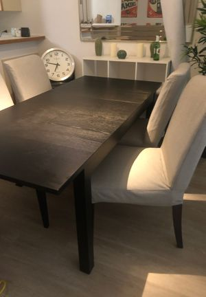 Expandable dining table set with chairs for Sale in San Francisco, CA