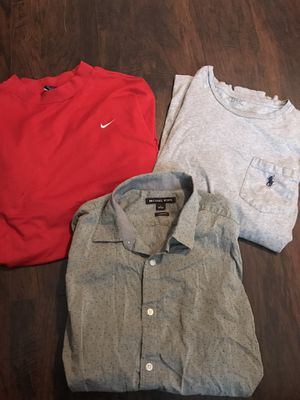 Man clothes size medium large good condition for all $60 good brands for Sale in Spring Valley, CA