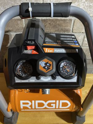 RIDGID 18v CORDLESS PORTABLE AIR COMPRESSOR 1GA -TOOL ONLY for Sale in Deer Park, TX
