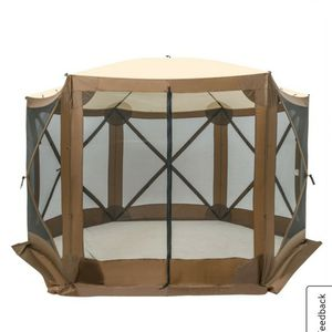 140x140 Patio Pop Up Mesh Sided Canopy Instant Gazebo Screen Tent Brown for Sale in Anaheim, CA