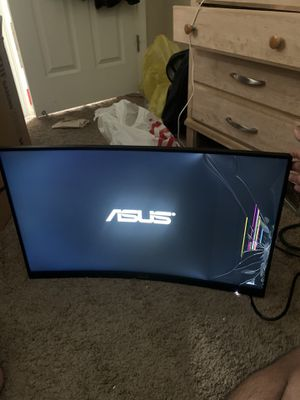 Broken Asus 165 Hz 27 inch curved for Sale in Tracy, CA