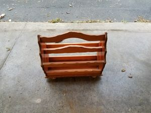 Wooden magazine rack for Sale in Melrose, NY