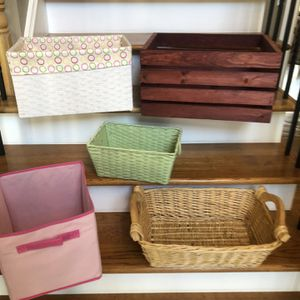 Wicker, woven & wooden storage containers for Sale in Marietta, GA