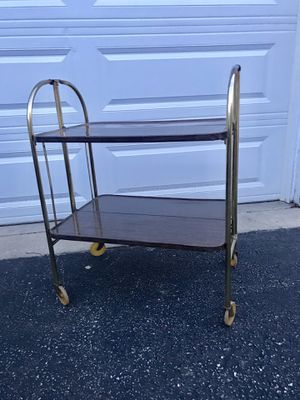 Mid Century Roll and Fold collapsible Metal Cart for Sale in Rolling Meadows, IL