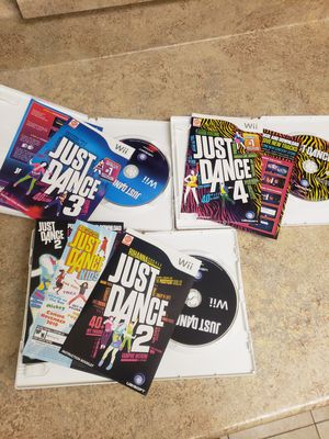 Just Dance Wii Lot!! 2,3,4 (collection)(CIB) for Sale in Pittsburg, CA