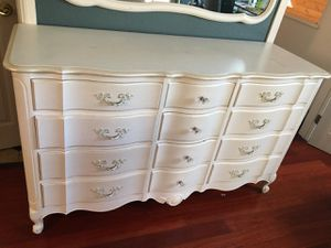 Shabby chic refurbished dresser with mirror for Sale in Los Angeles, CA