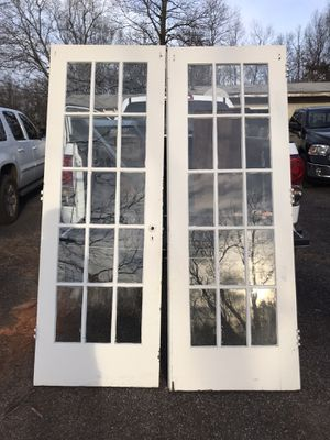 "Antique French Doors 15 pane. 7'x 29 1/4"". Very solid. Wavy glass. for Sale in Greer, SC"