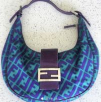 Authentic Vintage Fendi Zucca Crescent Bag for Sale in New York, NY